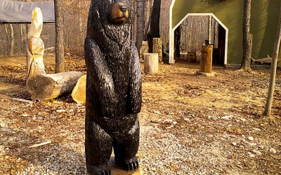 6' Chainsaw Black Bear, Troy