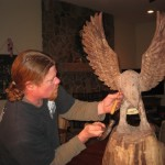 Eagle in progress, detail